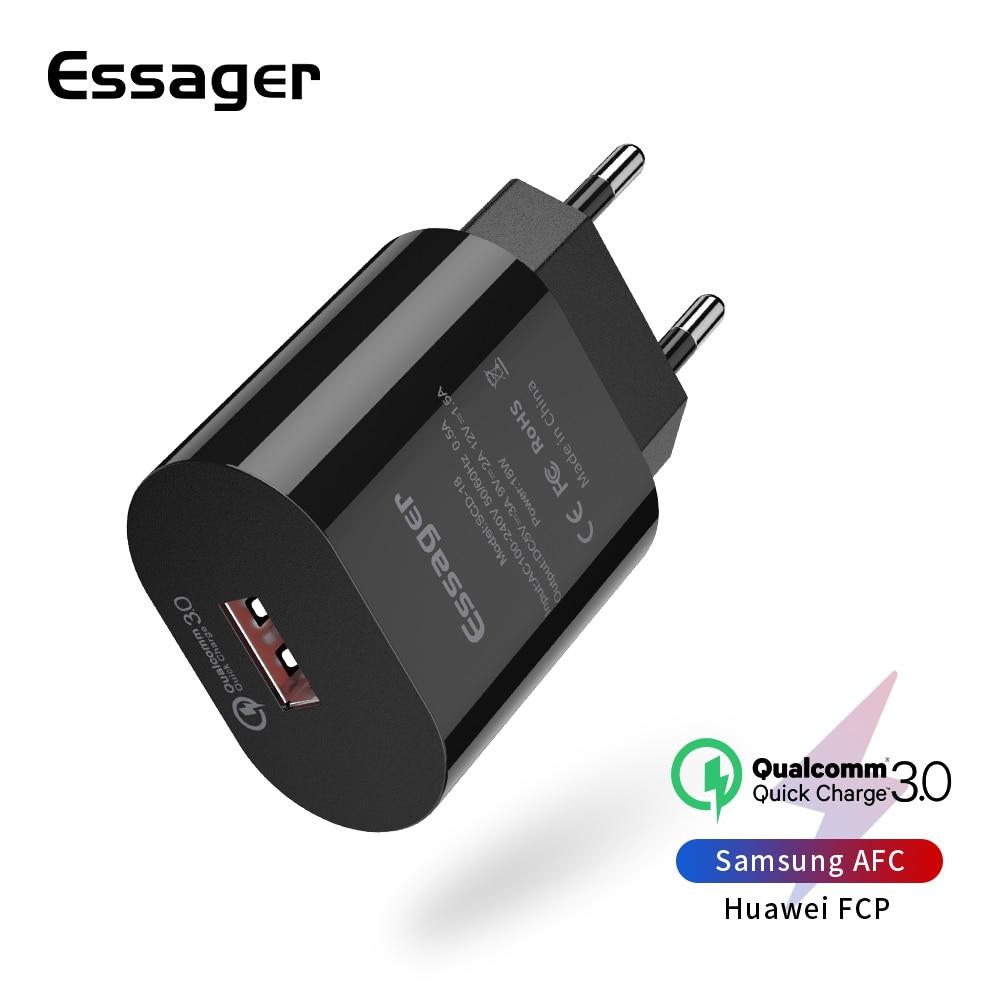 Essager Mobile-Phone-Charger Xiaomi Samsung Eu-Plug Fast-Charging-Plug IPhone USB