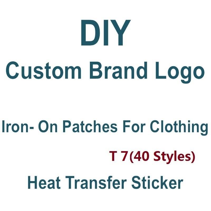 Изготовленный на заказ логотип бренда тепла Trasfer наклейки приклеивающиеся утюгом нашивки на одежду, обувь, сумки, футболка «сделай сам»; Мод...