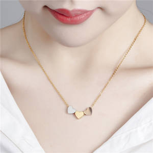 Luxury Necklaces Jewelry-Accessories Gold Love-Heart-Pendant 316l-Stainless-Steel Women