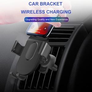 Image 3 - Fdgao montagem do carro qi carregador sem fio para iphone 11 pro xs max x xr 8 rápido carregamento sem fio suporte telefone do carro para samsung s9 s10