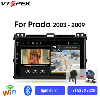 Vtopek 2din Android 9.0 Car Radio Multimidia Video Player Navigation GPS For Toyota LAND CRUISER Prado 120 2003-2009 Head Unit vtopek 9 4g wifi 2din android 8 1 car radio multimedia player navigation gps for toyota prado 3 j120 2003 2009 head unit 2 din