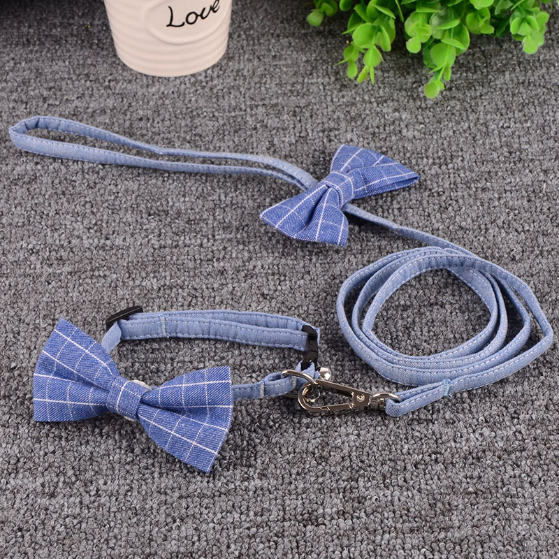 Pringles Pincool Pet Tie Neck Ring-Collocation Hand Holding Rope Cat Bow Pure Cotton Dog Bowtie