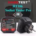 Habotest HT106d socket tester Voltage Test Socket detector EU Plug Ground Zero Line Plug Polarity Phase Check