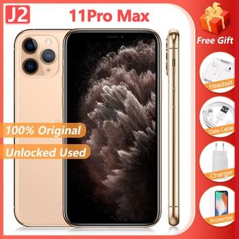 "100% Original Apple iPhone 11 Pro Max Triple Rear Camera Cellphone 6.5"" 4GB + 64/256/512GB A13 Chipset Unlocked Used SmartPhone 1"