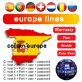 2021 The Most Stable lines for Europe 5/7 line Satellite tv Receiver Clines WIFI FULL HD DVB-S2 Support Ccams