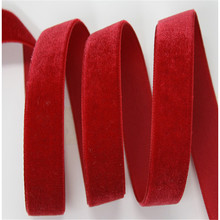 Velvet Ribbon 100% polyester single-faced velvet planted with high quality solid color ribbon