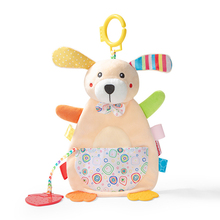 Cartoon Infant Towel Toys Cute Cotton Comfort Animals Towel Calm Doll Teether Toy Pacify Doll for Baby Rattle toy baby infant cute lion plush toy comfort towel with sound paper and teether dog soft appease stuffed toy playmate calm doll
