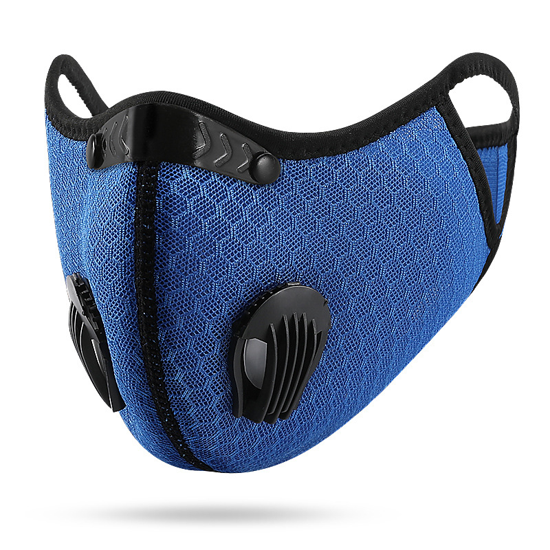 H3371f83d0a6d46a78ec55f099f2a18097 Bike Face Mask, With Filter Activated Carbon Mesh Cycling Half Facemask for Outdoor Sports,Unisex Dust Reusable