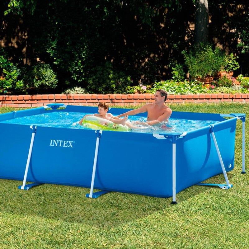 Rectangular Swimming Pool Above Ground Intex Frame 300 X 200 H 75 CM 28272