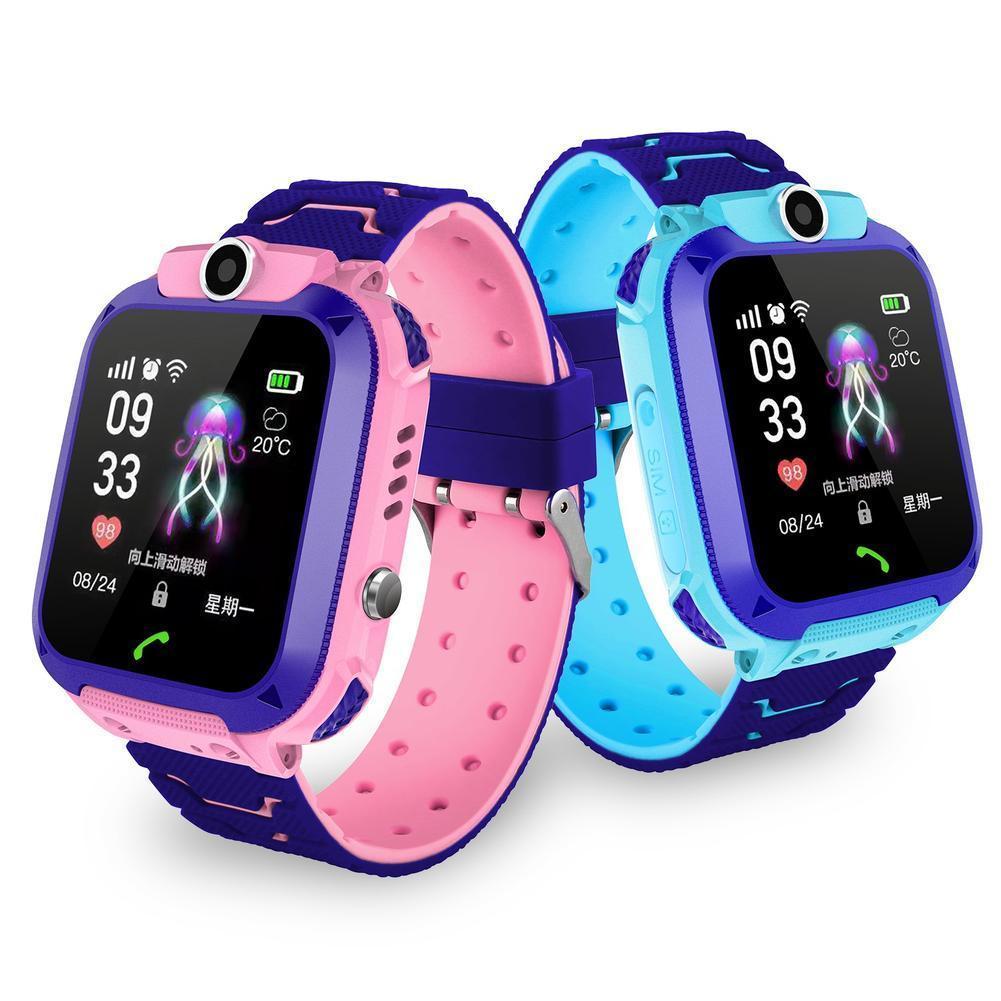 2019 Boy and girl smart watch Children 39 s Phone Watch S9 Student Waterproof Positioning Smart Watch Male and female smart watch in Smart Watches from Consumer Electronics