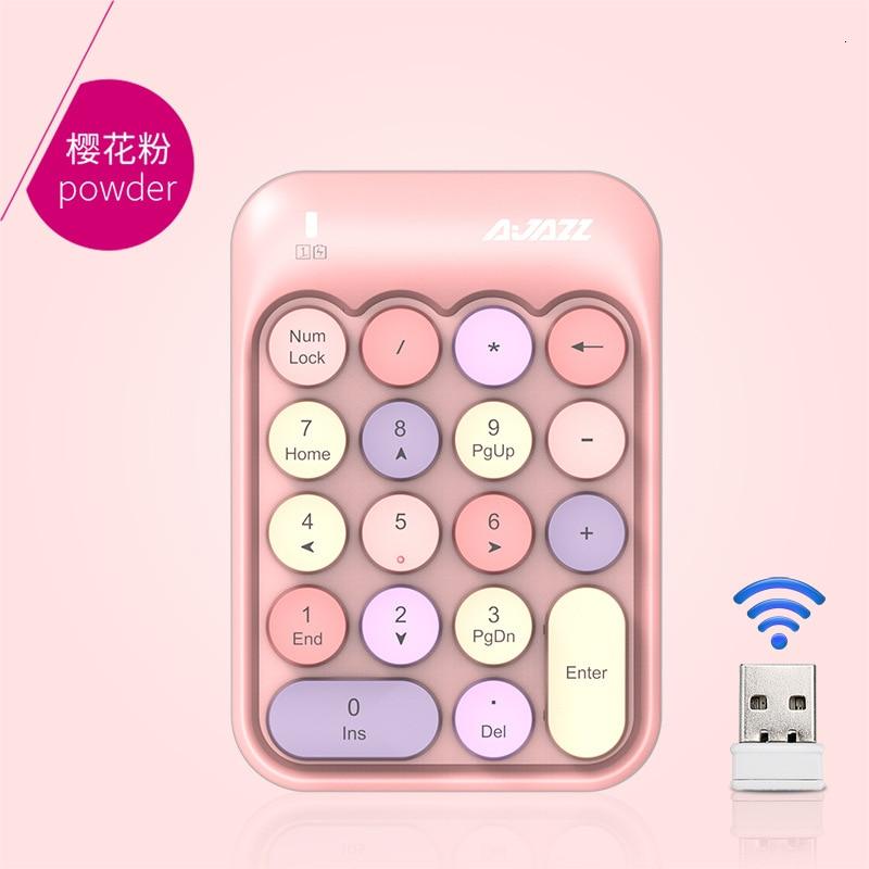 Wireless Numerico Keyboard 2.4G Chocolate Pbt Keycap For Teclado Tablet Anne Pro 2 Pc Gk61 Laptop Mini Keyboard Steam Punk