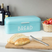 Retro Bread Box for Kitchen Counter, Bin Storage Container Loaves, Pastries and More, Vintage Inspired Design, Turquoi