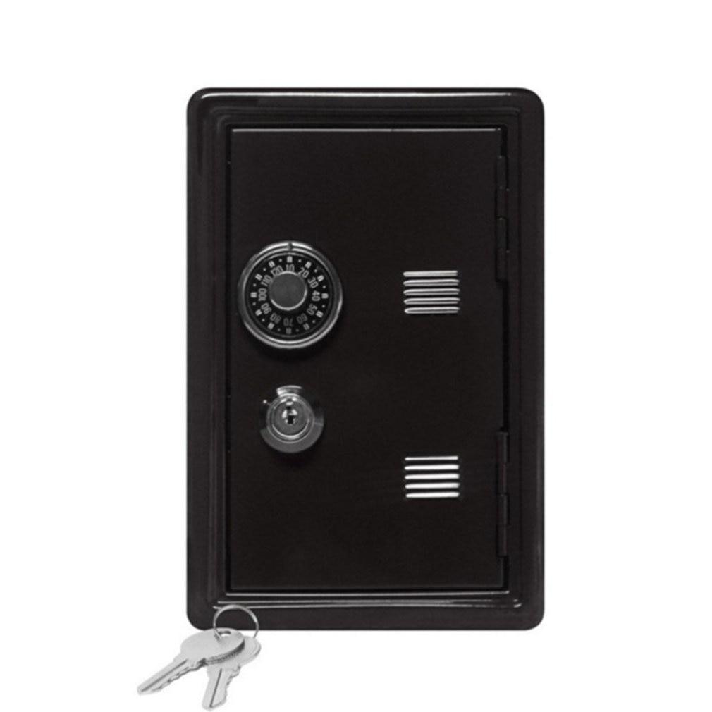 Household Insurance Box Mini Metal Safe Creative Piggy Bank Key Insurance Cabinet Desktop Decoration LESHP