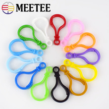 100pcs mix colors Plastic lamp style buckles Snap hook Lobster Clasp DIY backpack Sewing handmade Bag purse toy doll tool