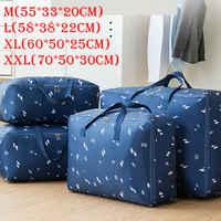 Portable Oxford Storage Bag Waterproof Folding Clothing Organizer Casual Unisex Travel Large Handbag Duffle Bag Luggage Bag