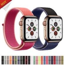 цена на Strap For Apple Watch band 44 mm 40mm iwatch band 42mm 38mm Sport Loop nylon correa bracelet Belt Watchband apple watch 4 5 3 2