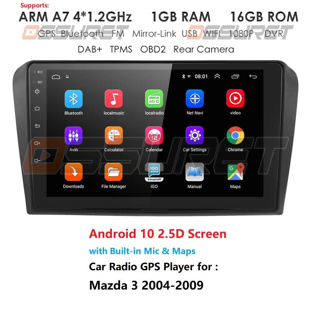 2G + 32G Android 10 Mobil Radio untuk Mazda 3 2004-2009 Maxx Axel Wifi Auto Stereo mobil Dvd Gps Navigasi Stereo Multimedia Pemain