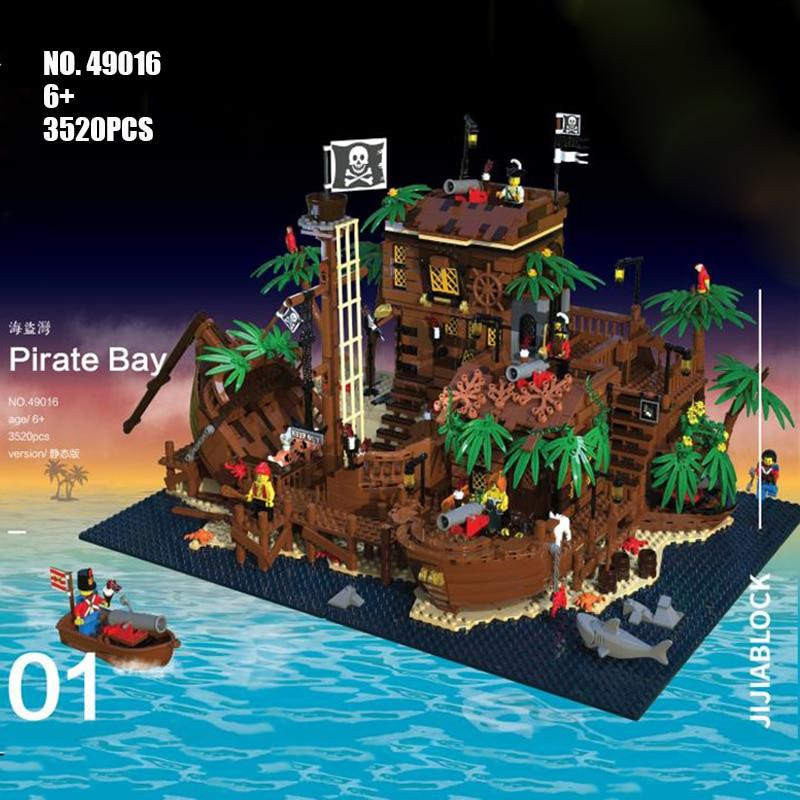 2020 New Ideas Lepining Pirates Of Barracuda Bay 21322 49016 Ship Blocks Bricks Lepinblocks Blocks Toys Kids Birthday Gift
