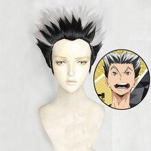 Anime Haikyuu!! Fukurodani Kotaru Bokuto Short Wig Cosplay Costume Heat Resistant Synthetic Hair Haikiyu Men Women Wigs