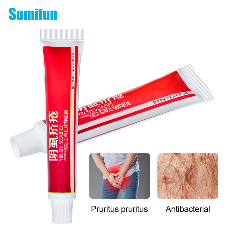 1pcs Herbal Scabies Cream For Pubic Head Body Lice Mite Pruritus Antibacterial Ointment P1091