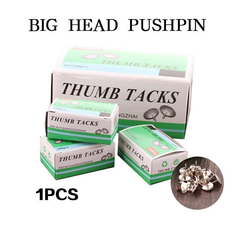 1pcs Big Head Pushpin Nickel-Plated Yuan Tou Ding I-shaped