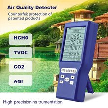 Portable Digital Formaldehyde Detector HCHO/TVOC/CO2 Gas Tester AQI Air Quality Monitor Analyzer Measuring Tool
