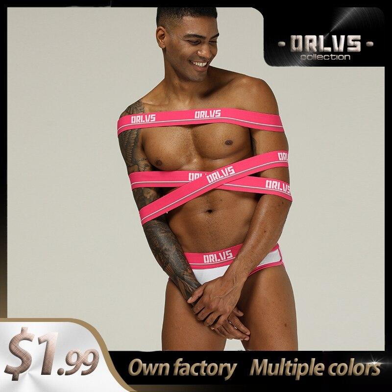 Men Underwear Sexy Gay Male Panties Cotton Briefs Underpants Jockstrap G-Strings Breathable Hombre Cuecas Brief OR199