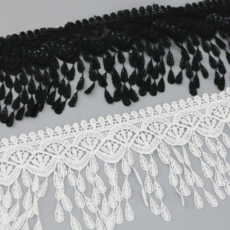 (1 ярд/рулон) 70 мм белая черная шелковая сетка, кружево, блестящая отделка, рукоделие, шитье
