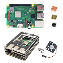 Raspberry Pi 3 Model B + Combination kits sales with  the 9 layer Acrylic Box Black Cases and fan heat sink