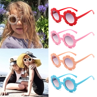 Hot Summer Sunglasses Lovely Accessories Vintage  Sport Round Flower Sun Glasses Baby Adorable Beach Accessories for Children
