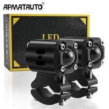 X6A LED Lens çift Hi/düşük farlar motosiklet 8000lm 70W Spot sürüş sis lambaları için HONDA Yamaha için FZ16 YS150 FZER150