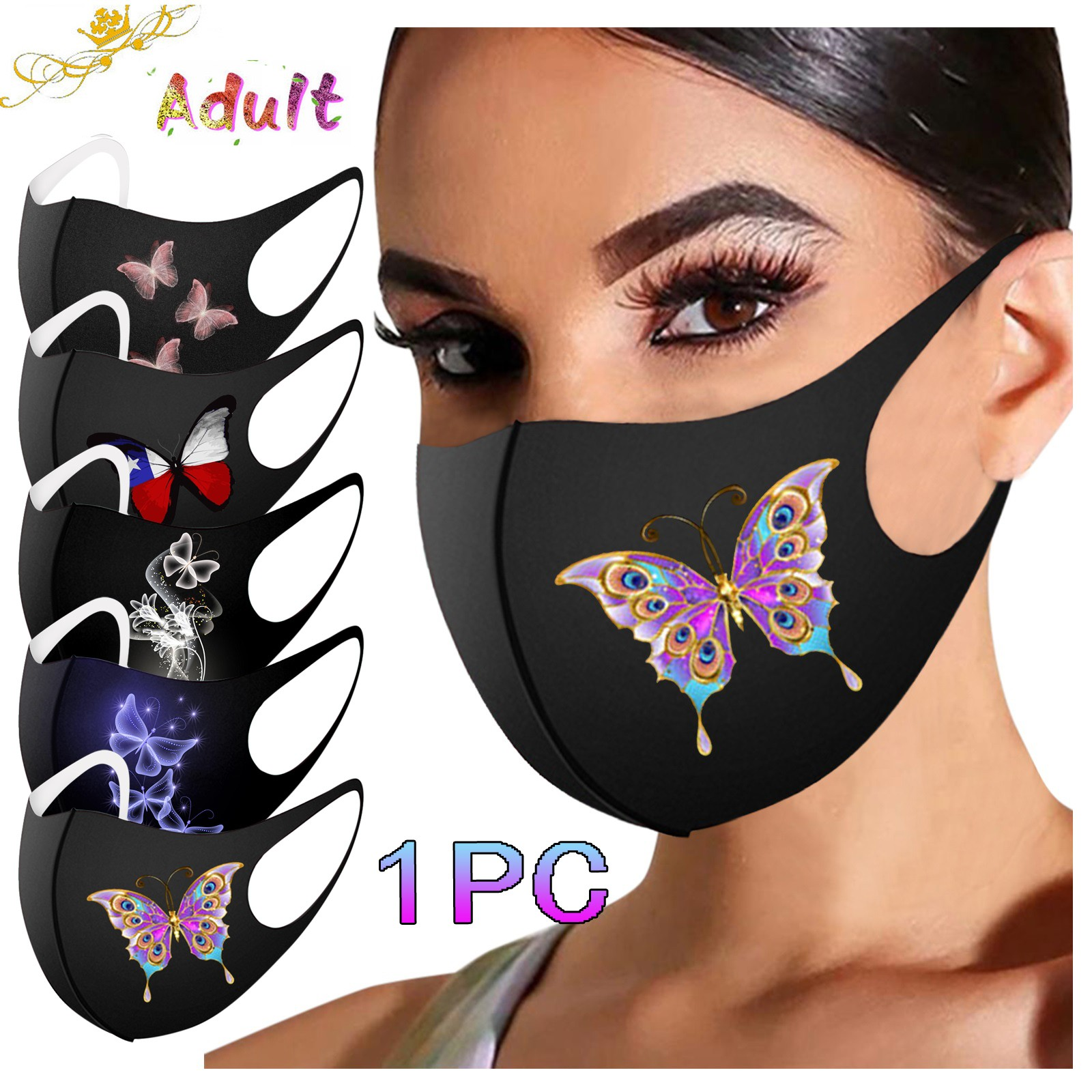 Headband masques mondkapjes Adult Mask Printed Mask for Protection Washable FaceMask mascarillas lav