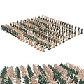 360 шт 1:72 Пластик 2,8 см солдат фигурка фигурки аксессуары