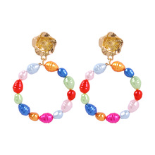 Simulated-pearl Trendy Earrings Beaded Earrings Boucle D Oreille Fashion Aretes  for Women 2020 Statement Pendientes New Indian 2017 korean ear accessories fashion statement earrings boucle d oreille rhinestone flower beads tassel earrings new jewelry