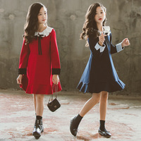 Baby Girl Dress High Quality New Autumn Winter Preppy Style School Girls Clothes 2 18Y Girls Party Dress Princess Clothes CL135