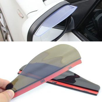 2 PVC car styling waterproof rearview mirror eyebrow rain cover for BMW all series 1 2 3 4 5 6 7 X E F-series E46 E90 X1 X3 X4 image