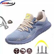 Мужские ботинки со стальным носком; светильник для страховки труда; нескользящая прокалывающаяся защитная Рабочая обувь; дышащие уличные кроссовки