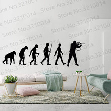 Soldier Evolution Wall Sticker Decal Bedroom Art Ape Army  living room home wallpaper PW439