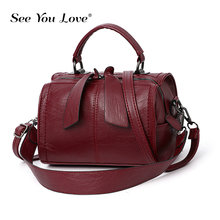 Vintage Solid 2019 New Elegant Handbags Women Shoulder Bag High Quality Crossbody Bags Designer PU Leather Ladies Tote