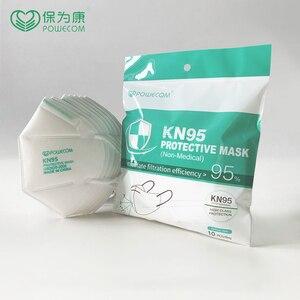 10 pces ffp2 kn95 filtro máscaras faciais 5 camada kn95mask anti-poluição máscaras protetoras não descartáveis filtro de poeira máscara de segurança
