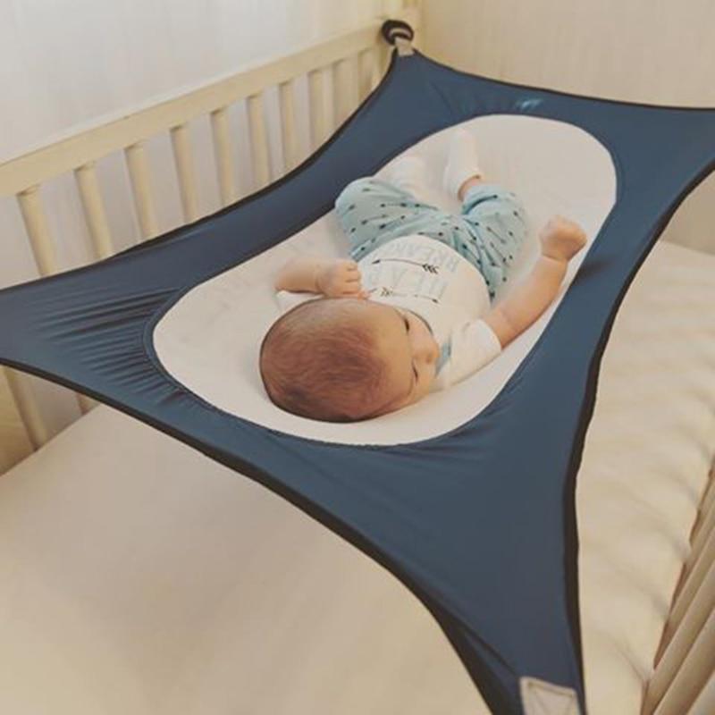Infant Baby Hammock Newborn Kids Sleeping Bed Removable Cot Crib Swing Elastic Adjustable Net Hammock Home Outside