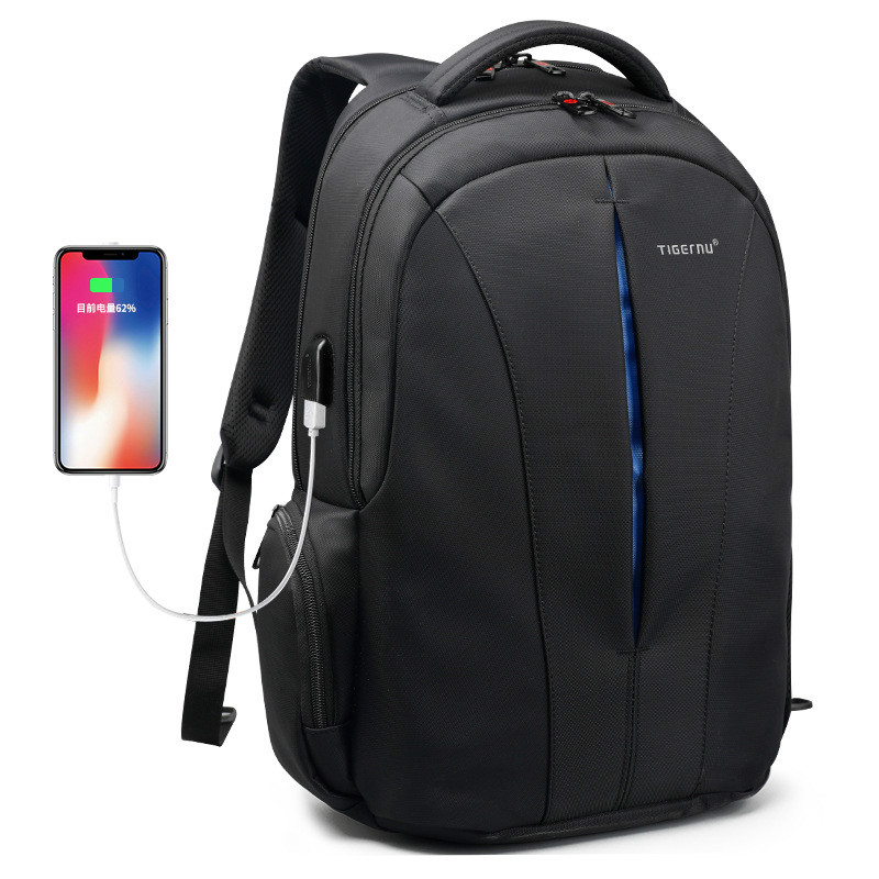 JIULIN Splashproof 15.6inch Laptop Backpack NO <font><b>Key</b></font> <font><b>TSA</b></font> Anti Theft Men Backpack Travel Teenage Backpack bag male bagpack mochila image