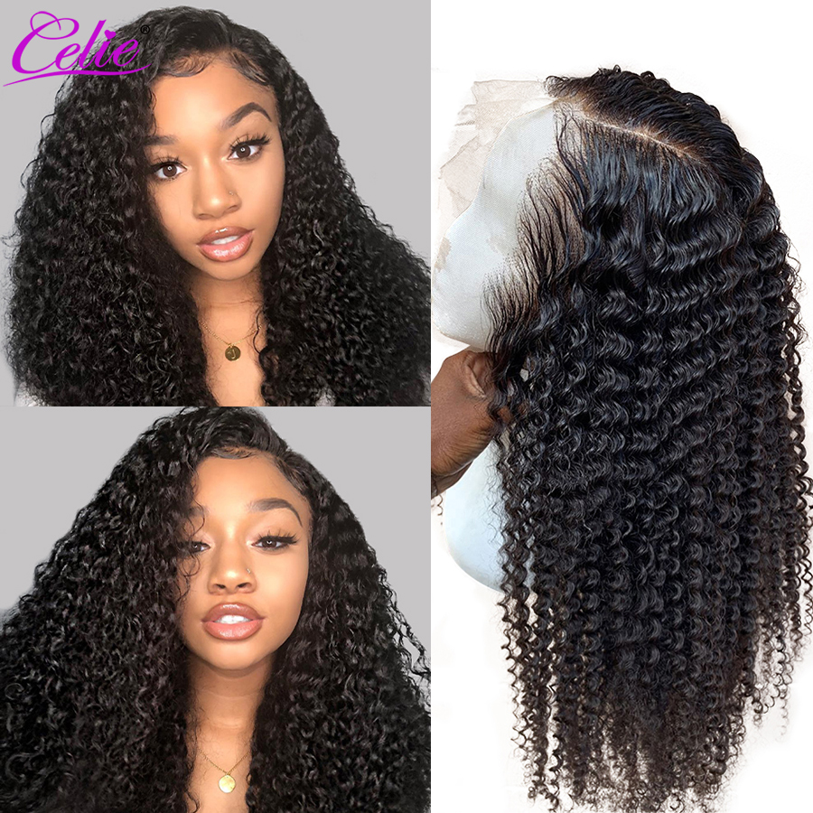 Celie Kinky Curly Wig 13x6 Lace Front Human Hair Wigs Pre Plucked 360 Lace Frontal Wig 150 180 250 Density Human Hair Wig