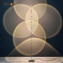 Light and shadow atmosphere floor lamp minimalist designer creative art back wall projection floor light