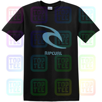 Rip Tee Curl Threaded Classic T-Shirt Black Mens New Unisex Size S-3XL - discount item  35% OFF Tops & Tees