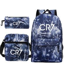 Рюкзак с изображением Криштиану Роналду cr7 школьные ранцы на