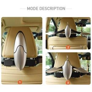 Image 5 - Auto Kleiderbügel für Anzüge Mantel Kleidung Halter Universal Auto Sitz Haken Schrumpf Auto Organizer Halterungen Auto Innen Zubehör