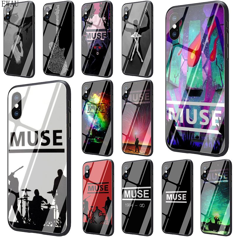 EWAU Muse Band Lyrics Music Songs Tempered Glass phone case for iphone 5 5s SE 2020 6 6s 7 8 Plus X XR XS 11 pro Max image