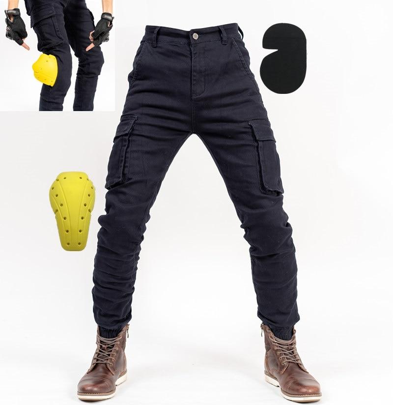 Moto Pants2019 Pantalones De Moto Para Hombre Pantalones De Motocross Para Moto Jeans Con Rodillera Pantalones Aliexpress