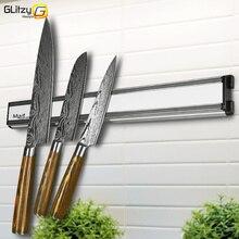 Магнитный держатель для ножей 14 дюймов, алюминиевая настенная подставка для ножей, Магнитный нож, блок для хранения ножей, инструменты для приготовления пищи